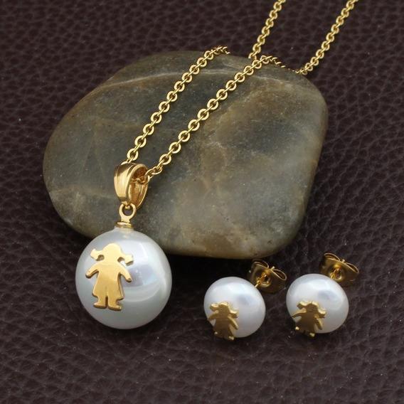 Collar Y Aretes De Perlas