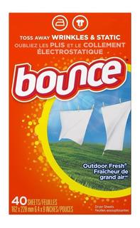 Bounce Hojas De Secadora Para Lavarropas - 40 Unidades P&g