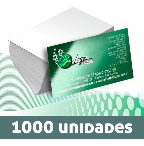 Imagem 1 de 3 de Cartão De Visita Couchê 250g Verniz Total Frente