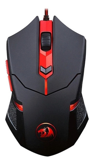 Mouse Gamer Redragon Centrophorus V3 Led Red 3200dpi Preto