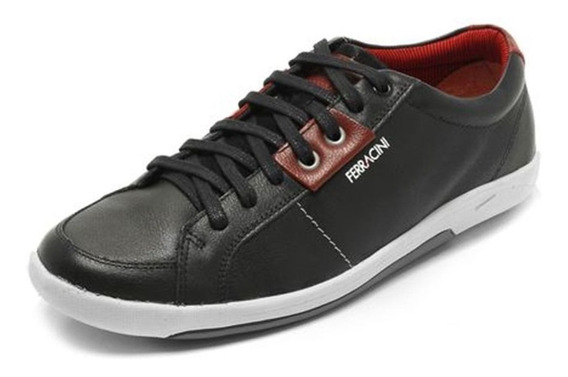 Tenis Masculino Ferracini Calce Facil Original Couro 2581c