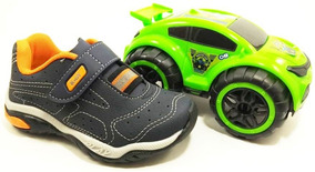 Tênis Masculino Kidy Monster Play 007 + Brinde Super Carro