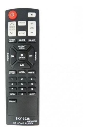 Controle Remoto Som Lg Akb73655721 Akb73655702 Cm4320 Cm9730