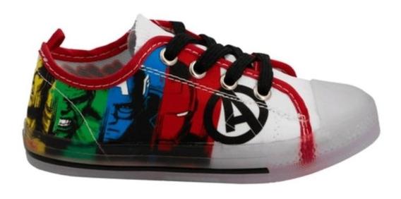 Tenis Niño Tipo Converse Avengers Casual Sneaker