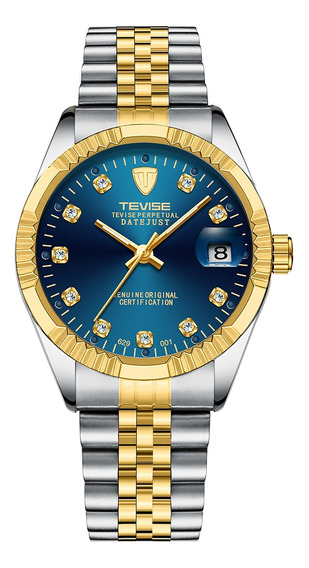 Reloj Pulsera Tevise Moderno Impermeable De Lujo Para Hombre
