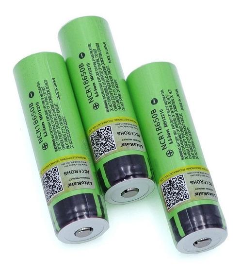 Bateria 3,7v Li-ion Ncr18650b 3400mah Panasonic Laterna