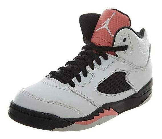 Tenis Air Jordan Niños Retro 5 Cómodos Resistentes 0riginal