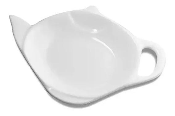 Porta Posa Saquito Té Ceramica Blanco Sheshu Home