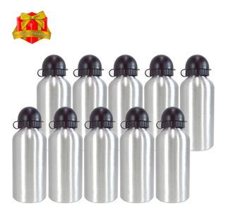 10 Squeeze Sublimação Garrafa Aluminio Prata 500ml - Grossa
