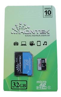 Cartão De Memória 32gb Classe 10 Hontek Original Micro Sd