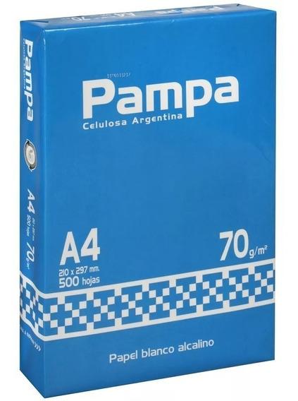 Resma Pampa A4 70 Grs 210 X 297 Mm 500 Hojas Para Impresora