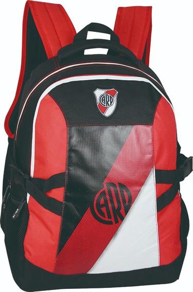 Mochila River Plate Con Red Original Licencia Oficial Bolso