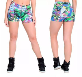 Kit C/6 Short Feminino Suplex Fitness Barato Academia