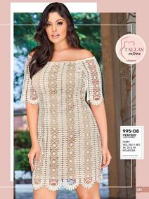 Oferta Vestido Dama Tallas Extras Cklass 995-08 Pv019 Ivory