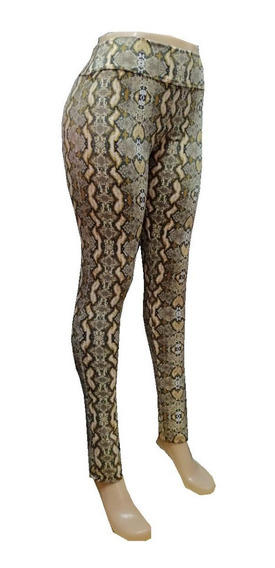 Calza Mujer Animal Print Reptil Talles 1 Al 6 Termico
