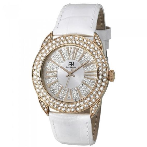 Relógio Feminino Ana Hickmann Analógico Ah28240z Branco 1 Ano De Garantia Nota Fiscal Baixou Preço Poucas Peças
