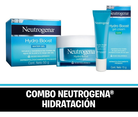 Combo Neutrogena Hidratación Hydro Boost Water Gel + Ojos