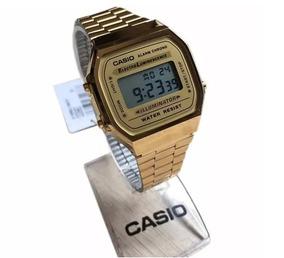 Relogio Casio Unisex A168 Retrô Vintage Dourado