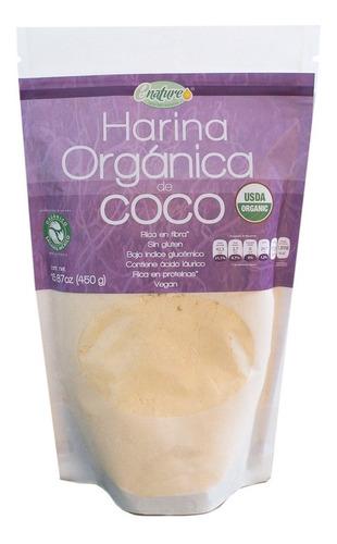 Imagen 1 de 5 de Harina Orgánica De Coco 450g