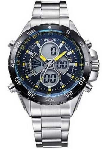 Relógio Masculino Weide Azul Wh-1103 Am Original Com Nf