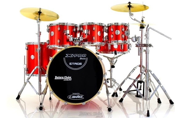 Bateria X-pro Stage Plus Apple Red 20¨,8¨,10¨,12¨,14¨ Com Pr