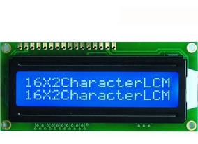 Display Lcd 1602 Arduino Pic Backligth Azul + Barra 16 Pinos