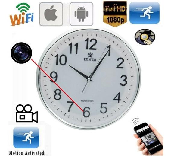 Relógio De Parede Mini Câmera Hd Espiâ Wifi