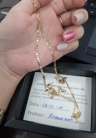 Corrente De Ouro Unissex 18k 70cm 3mm