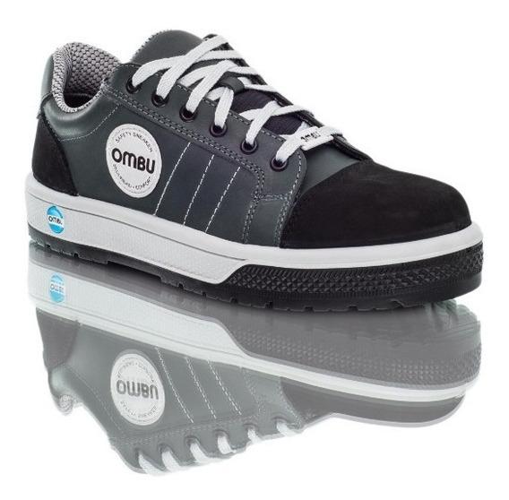 Calzado De Seguridad Zapatilla Ombu Modelo Sneaker / Gris