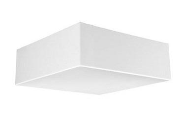Luminária/plafon Quadrado 21 X 21cm E27 Plaslumi - Branco