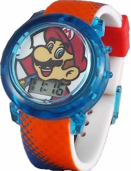 Reloj Super Mario Flashing Led Watch Nuevo Original