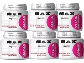 Kit Com 6 Colagen 100 Capsulas (cada) Combo De Colágeno Hidrolisado Max Titanium