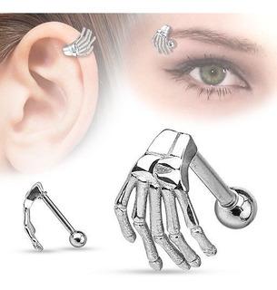Piercing Ceja - Mano De Esqueleto - Acero Quirúrgico