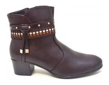 Bota Feminina Mooncity Cano Baixo Salto 75943 - Maico Shoes