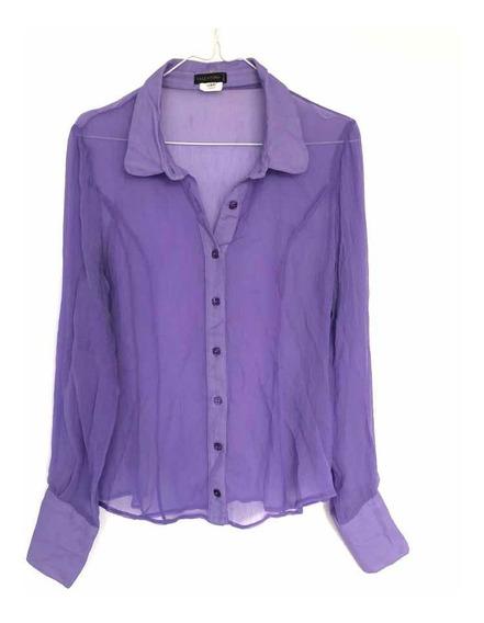 Camisa De Mujer Valentino De Seda Lila