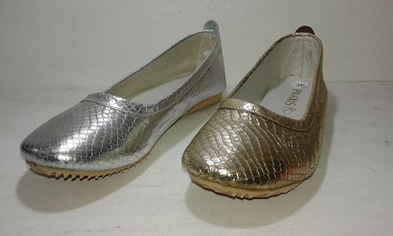 Chatitas Ballerinas Zapatos Mujer Cuero Fantasía Art.1550