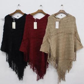 Ponche De Trico Croche Feminino Roupas Femininas Inverno 836
