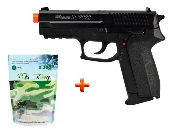 Pistola Airsoft Spring Sig Sauer Sp2022 + Munição Bb King