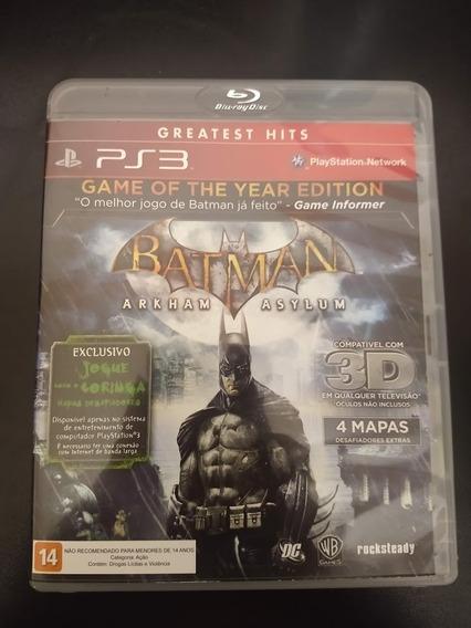 Batman Arkham Asylum Goty Ps3 Mídia Física Original Perfeito
