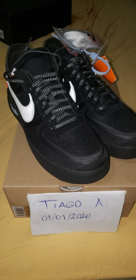 Air Force 1 Off-white - Preto - Us11/br43