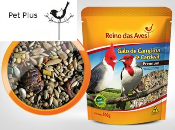 Galo De Campina E Cardeal Gold Mix - Reino Das Aves 500g