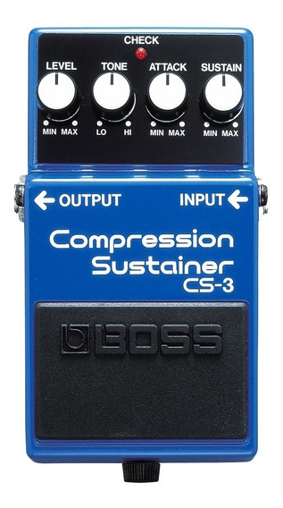 Pedal Cs-3 Compressor Sustainer Boss Cs 3 Attack E Level
