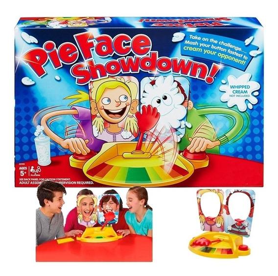 Jogo Torta Na Cara Duplo Creamy Rosto Brinquedo Familia