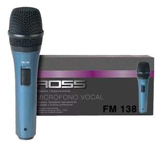 Microfono Dinamico Vocal Supercardioide Fm138 Cuotas