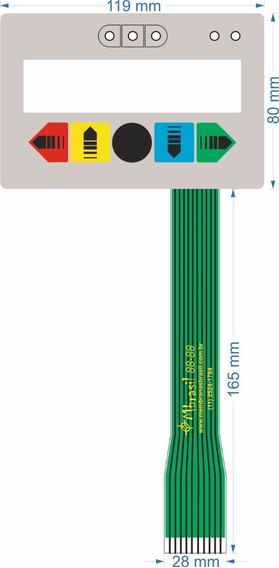 Teclado Para Alinhador Space Hofmann - 1 Flat - Cód 671