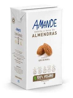 Amande -leche De Almendras- Sabor Original Caja X12 Unidades