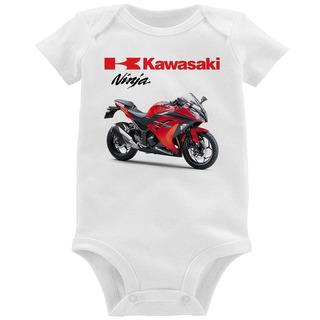 Body Bebê Moto Kawasaki Ninja 300 Vermelha