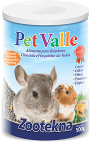 Pet Valle - Chinchila E Porquinho Da Índia - 500g