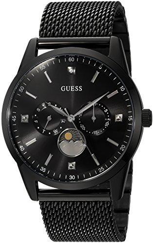 Reloj De Hombre De Malla De Acero Inoxidable Guess, Color: N