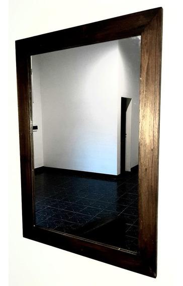 Espejo Baño Marco Madera Living 70x50 Cm ( Espejos 3mm )